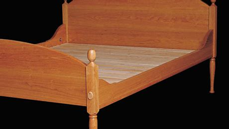 plan build  shaker style bed finewoodworking