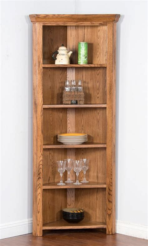Curio Bookcase by Sedona Corner Curio Bookcase By Designs Furniturepick