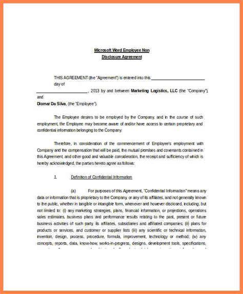 Non Circumvention Non Disclosure Agreement Template 6 non disclosure non circumvention agreement purchase