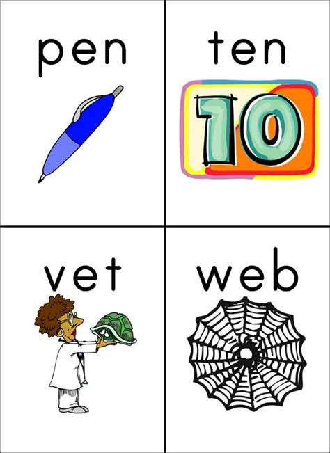 cvc wordpic flashcards cvc words flashcards phonics