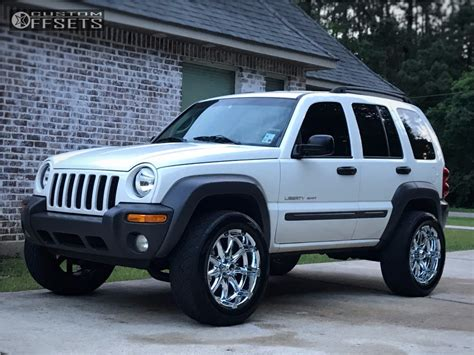 lifted jeep liberty 2003 jeep liberty xd badlands rough country suspension