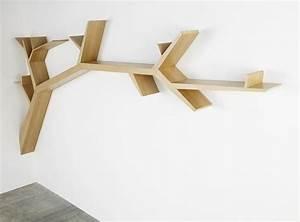 Etagere Bois Design : tag re design original en bois tree branch olivier ~ Teatrodelosmanantiales.com Idées de Décoration