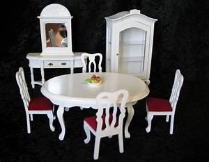 Lieferverzug Möbel Preisnachlass : edles speisezimmer weiss 9 tlg puppenhausm bel miniaturen ~ A.2002-acura-tl-radio.info Haus und Dekorationen