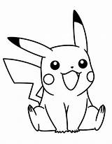 Coloring Pikachu Pokemon Pages Printable Stitch sketch template