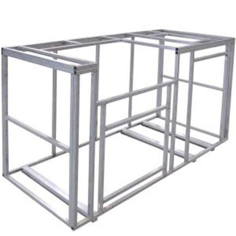 ft outdoor kitchen island frame kit fireside outdoor kitchens