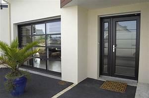 Porte D Entrée Vitrée Aluminium : vue de la porte d 39 entr e et de la baie vitr e id es pour ~ Melissatoandfro.com Idées de Décoration