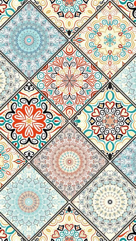 Boho Bohemian Iphone Backgrounds by Boho Bohemian Mandalas Mandala Design Tile In 2019