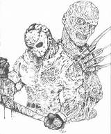Jason Freddy Coloring Vs Pages Voorhees Deviantart Friday 13th Ozzman Trending Days Last sketch template