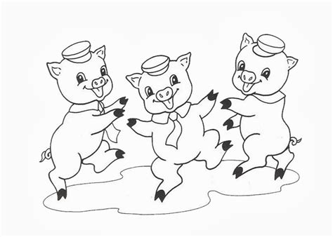 Three Little Pigs Free Colouring Pages