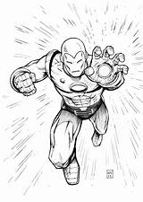 Iron Pages Coloring Printable Ironman Sheets Colors sketch template