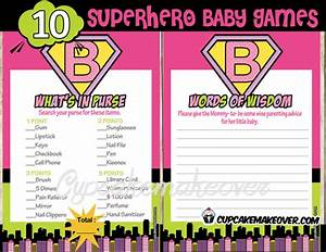 Superhero Girl Baby Shower Games – INSTANT DOWNLOAD