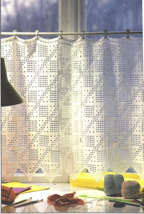 crochet curtains needle works butterfly filet crochet curtains