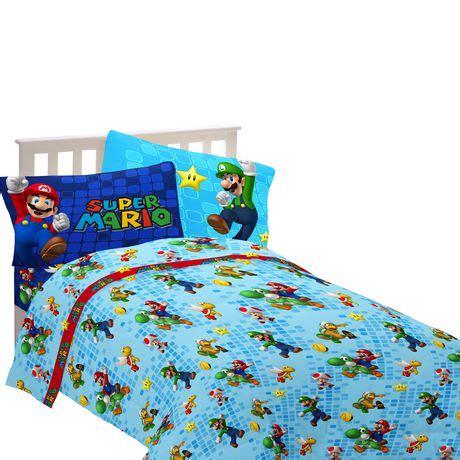 super mario bros bedding full canada mario sheet set walmart canada