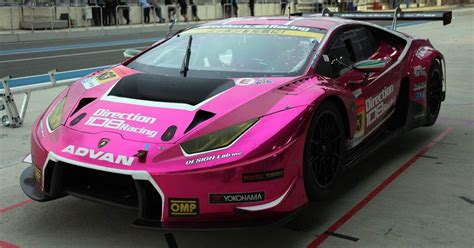 fulfil  racing driver dreams   pink lamborghini