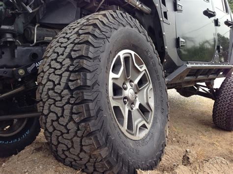 offroad jeep cj bfgoodrich all terrain ta ko2 tires mounted on jk jeep