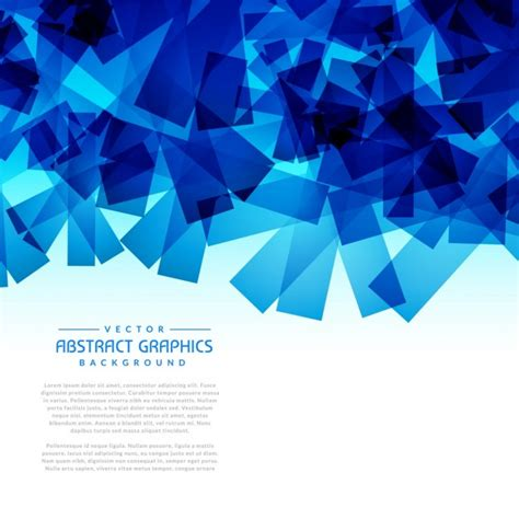 Abstract Blue Shapes Background by Abstract Blue Shapes Background Vector Free