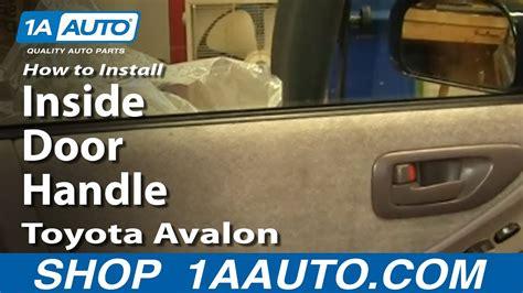 install replace  door handle toyota avalon