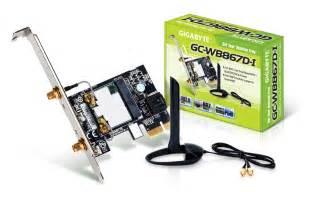 carte wifi pour pc bureau gigabyte gc wb867d i pci express x1 ieee 802 11ac a b g n
