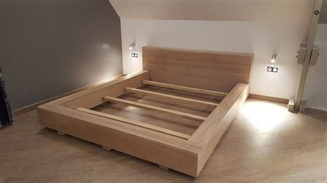 fabriquer un lit fabriquer sommier en bois idees images