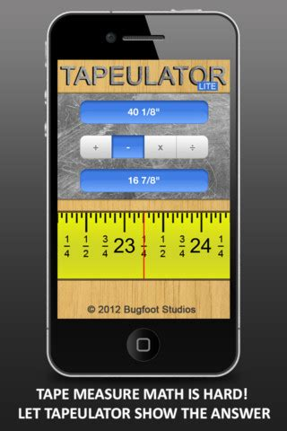 iphone measuring app tapeulator lite measure calculator 1 5 app for