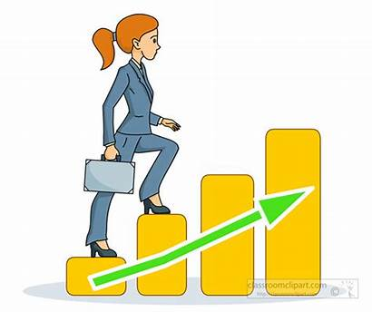 Ladder Clipart Corporate Walking Woman Business Stair