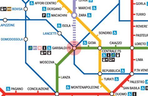 Metropolitana Porta Garibaldi by Porta Garibaldi Station Map Milan Metro