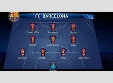 Leo Messi Fanns FC Barcelona Official Lineup vs Bayern