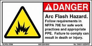 Danger arc flash hazard for Danger arc flash labels