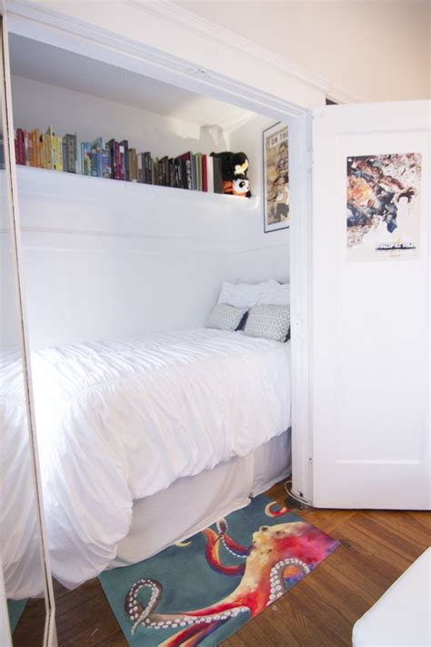 Bed Closet by S Eclectic San Francisco Apartment House Tours