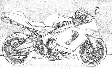 motorcycle outline drawing outline of motorcycles and