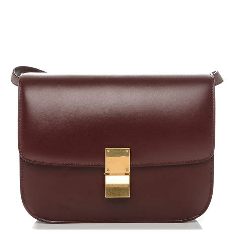 b1215e92d6ab 1500 x 1500 www.fashionphile.com. CELINE Box Calfskin Medium Classic Box  Flap Bag ...