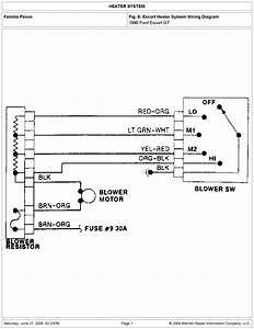 Ford 1990 Escort Heater Sistem Wiring Diagram Tif