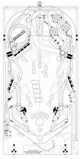 Pinball Playfield Hobbit Machine Flipper Arcade Casero Layout Outline Bauen Games Blueprint Steampunk Dibujos Melis Pinballnews Piero Carnival Guardado Desde sketch template