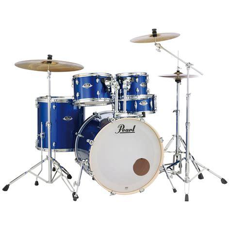 pearl export  high voltage blue complete drumset drum kit