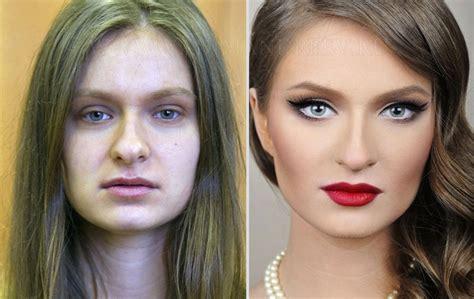 Avant et après un maquillage de films d'horreur