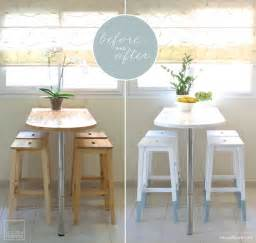small kitchen bar table ideas mini kitchen makeover paint dipped ikea chairs ikea hackers