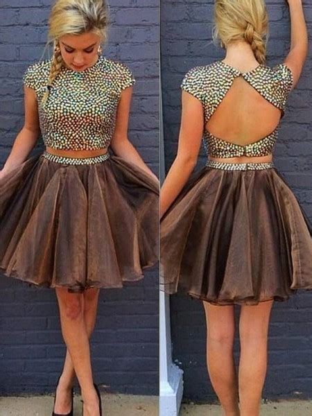 Short two piece prom dresses 2019