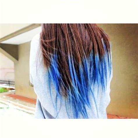 Blue Dip Dye With Brown Hair Hᴀɪʀ Pinterest This