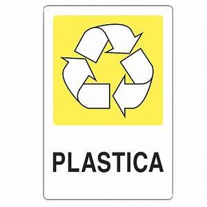"""Cartello adesivo """"plastica"""" Dimensioni: 30 x 20 cm Staples®"""