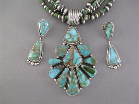 Royston Turquoise Necklace & Earring Set - Native American ...