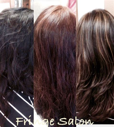 Before And After Transformation Color From Black Box Dye