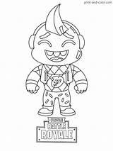 Fortnite Coloring Printable Colouring Cartoon Sheets Fornite Skin Drawings Boys Dibujos Para Colorear Season Whip Mini Lil Drawing Fortnight Games sketch template