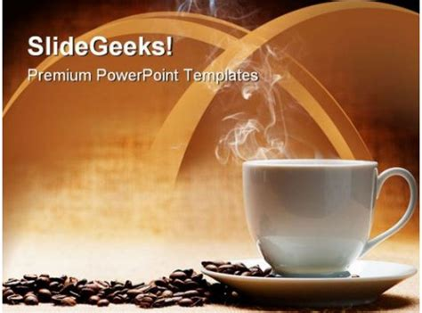 hot coffee  beans food powerpoint templates