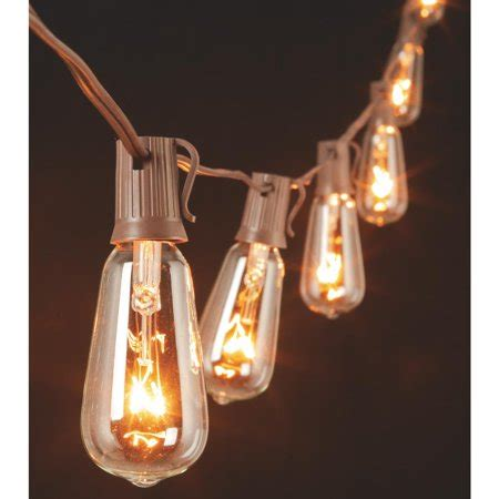 edison bulb string lights gerson edison st40 bulb string lights walmart