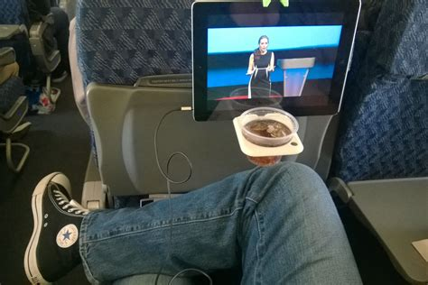 hate cramped airplanes  airhook holds  tablet