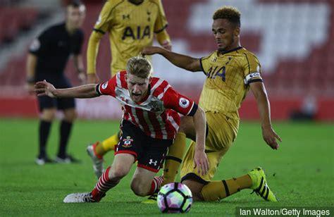 Tottenham Hotspur youngster Anton Walkes celebrates on ...