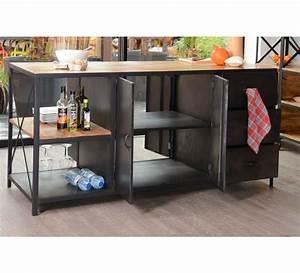 ilot central de cuisine industriel quot kraftquot 7372 With meuble ilot central cuisine 1 petit ilot central de cuisine cuisine en image