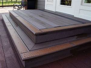Decorating: Brown Outdoor Stair Treads And Outdoor Stair