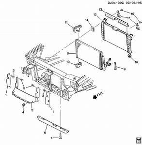 Pontiac Grand Prix Deflector  Radiator Air  Deflector  Rad