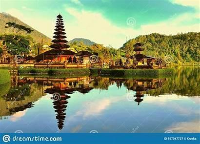 Bali Indonesia Temple Lake Beratan Pura Ulun